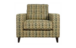 Homes: London Design: Melin Tregwynt fabric covered armchair from Heals
