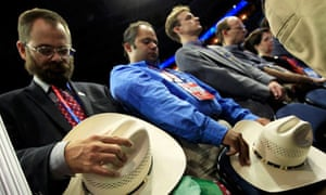 Delegates pray at the Republican National Convention in Tampa