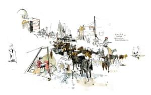 Azaz illustrations: Goats in Azaz