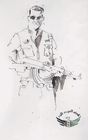 Azaz illustrations: FSA soldier in Azaz