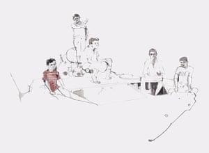 Azaz illustrations: Children on a tank