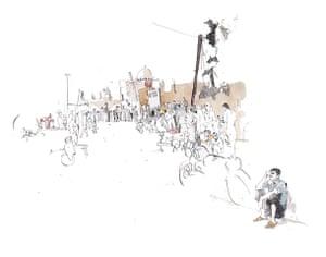 Azaz illustrations: Bakery road in Azaz