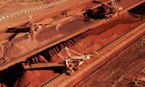 Iron ore mines in western Australia