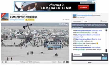Burning Man livestream screen capture