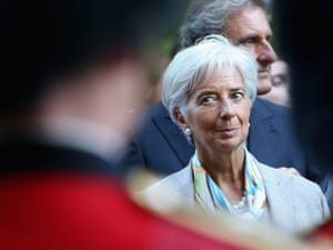 Head of the International Monetary Fund Christine Lagarde in London last week.
