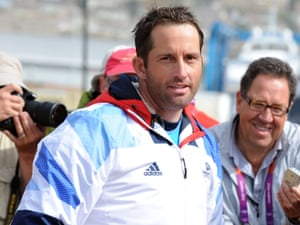 Ben Ainslie: mad as hell and not going to take it any more. Photograph: Geoff Moore/Rex Features