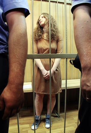 Pussy Riots: Maria Alyokhina before the hearing on Pussy Riot case