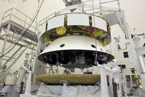 Mars Curiosity rover: Tucked in for Flight.