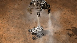 Mars Curiosity rover:  Curiosity has touched down onto the surface