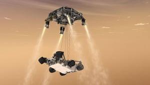 Mars Curiosity rover: the spacecraft's descent stage