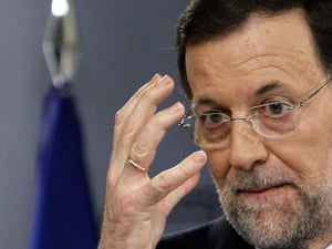 Spanish Prime Minister Mariano Rajoy at his press conference in Madrd. Photo:  EPA/Fernando Alvarado