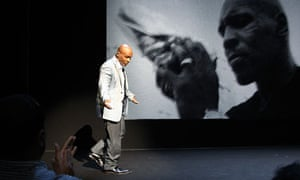 "Mike Tyson during the debut of his one man show ""Mike Tyson: Undisputed Truth"" in New York"
