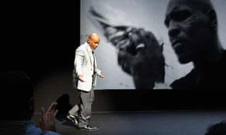 """Mike Tyson during the debut of his one man show """"Mike Tyson: Undisputed Truth"""" in New York"""