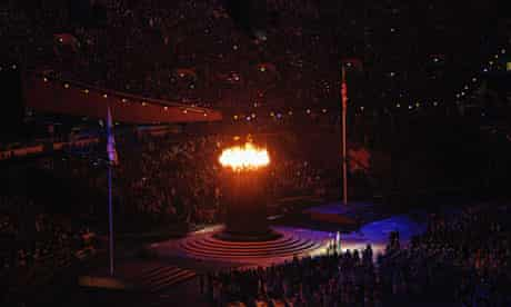 Paralympic cauldron at opening ceremony