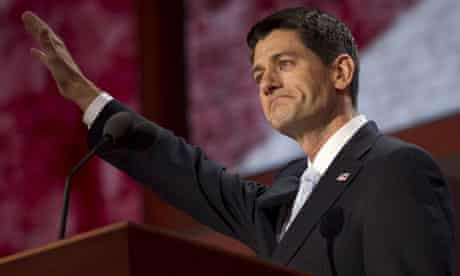 Paul Ryan speaking at the Republican national convention in Tampa.