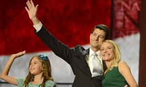 Paul Ryan with his wife Janna and daughter Elizabeth