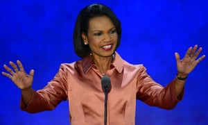 Condoleezza Rice speaking at the Republican national convention