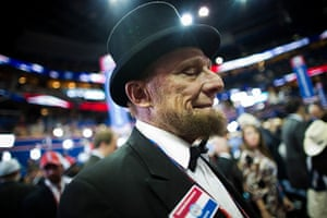 Republican convention: Delegate George Engelbach dressed like Abraham Lincoln
