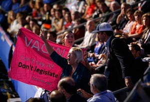 Republican convention: Protesters yell as Paul Ryan addresses the Republican National Conventio
