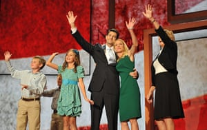 Republican convention: Paul Ryan with his family