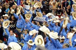 Republican convention: Texas delegates cheer as New Mexico Governor Susana Martinez speaks