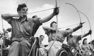 Stoke Mandeville archery class