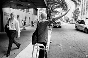 Big Picture: Cancer: A woman with breast cancer and people reactions whilst going for a walk