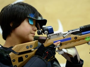 China's Zhang Cuiping: the first gold medallist of the Paralympics. Photograph: Dennis Grombkowski/Getty Images