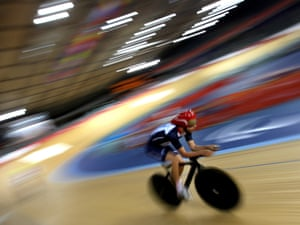 Darren Kenny during training at the velodrome on 29 August 2012. Photograph: PA