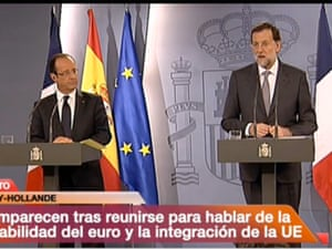 Mariano Rajoy and Francois Hollande, 29 August 2012.