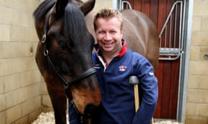 Great Britain's Lee Pearson with his horse Gentleman. Photograph: Steve Parsons/PA Wire/Press Association Images