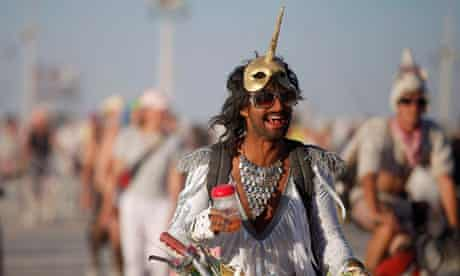 Burning Man partcipant