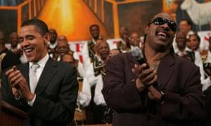 Performing for Democratic presidential hopeful Barack Obama, 2007.