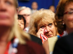 Woman cries at Republican national convention