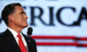 Mitt Romney during his acceptance speech at the Republican national convention in Tampa.