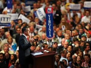 Mitt Romney Republican national convention speech.