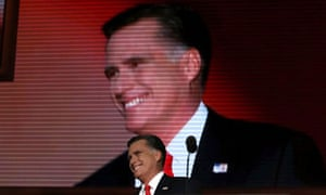 Republican presidential nominee Mitt Romney arrives onstage to accept the nomination for president