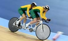 Australia's Felicity Johnson and Stephanie Morton in the women's individual B 1km cycling time trial