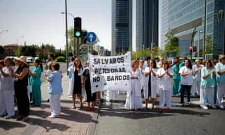 Spanish healthcare cuts