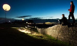 The Connecting Light installation on Hadrian's Wall