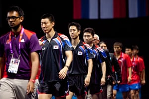 Table tennis: The Korean teams come out into the Excel centre