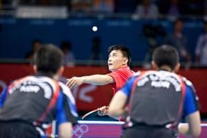 Table tennis: North Korea's SM Jang & SN Kim and South Korea's S Oh & S Ryu