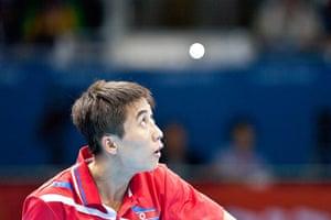 Table tennis: Bong Hyok Kim of North Korea