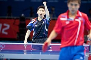 Table tennis: Seungmin Ryu of South Korea