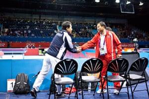 Table tennis: Saehyuk Joo of South Korea