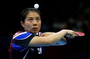 London 2012 Table Tennis: Kyung Ah Kim of Korea Table Tennis London 2012 Eyewitness