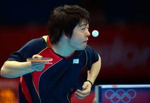London 2012 Table Tennis: Seiya Kishikawa serves tables tennis olympics London 2012