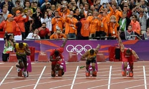 Bottle thrown onto track before 100m final