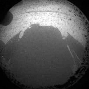 Curiosity Rover lands: The first image from the Mars rover Curiosity after it touched down