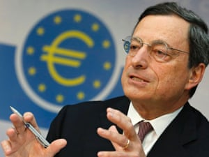 President of European Central Bank Mario Draghi. His plans to save the eurozone have met opposition from the Bundesbank